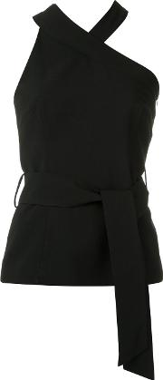 Giuliana Romanno , Asymmetric Top Women Polyester 38, Black