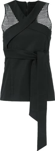 Giuliana Romanno , Panelled Top Women Cottonelastodiene 42, Black