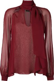 Giuliana Romanno , Silk Shirt Women Silk 40, Red