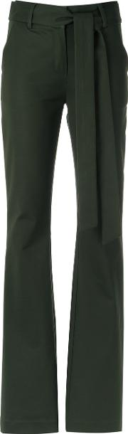 Giuliana Romanno , Wide Leg Trousers Women Cottonelastodiene 36, Women's, Green