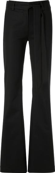 Giuliana Romanno , Wide Leg Trousers Women Cottonelastodiene 42, Black