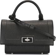 Givenchy , Mini 'shark' Tote Women Calf Leather One Size, Black