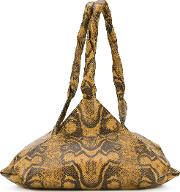 Givenchy , Python Skin Effect Shoulder Bag Women Calf Leather One Size, Nudeneutrals