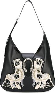 Gucci , Dionysus Embroidered Maxi Hobo Bag Women Leather One Size, Women's, Black
