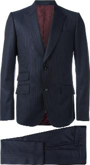 Gucci , Heritage Stripe Suit Men Cuprowool 54, Blue