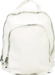 Guidi , Double Zip Backpack Unisex Horse Leather One Size, White