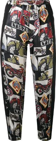 Hache , Printed Cropped Trousers Women Viscose 44