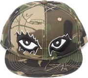 Haculla , Camouflage Print Eyes Cap Unisex Cotton One Size, Green