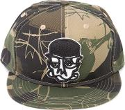 Haculla , Camouflage Print Face Cap Unisex Cotton One Size, Green