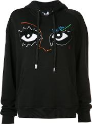 Haculla , Eye Embroidered Hoodie Women Cotton S, Black