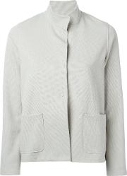 Harris Wharf London , High Collar Jacket Women Cottonpolyamidepolyesterspandexelastane 44, Grey