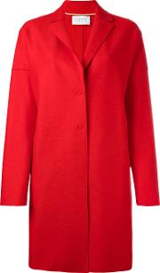 Harris Wharf London , Single Breasted Coat Women Virgin Wool 46, Red