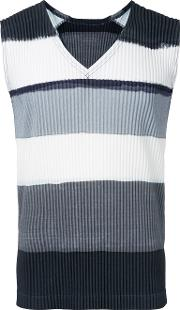 Homme Plisse Issey Miyake , Pleated Tank Top Men Polyester 3, Grey