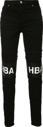 Hood By Air , Printed Text Trousers Men Cotton 30, Black