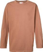 Ikiji , Roundy Dolman T Shirt Men Cotton L, Brown