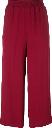 Im Isola Marras , I'm Isola Marras Cropped Straight Trousers Women Cottonviscose 38, Red