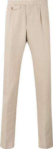 Incotex , Classic Tapered Trousers Men Linenflaxcotton 52, Nudeneutrals