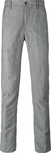 Incotex , Slim Fit Trousers Men Linenflaxwool 33, Grey