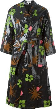 Isa Arfen , Tropical Print Raincoat Women Linenflax 6, Women's