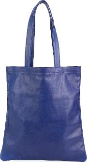 Isaac Reina , Classic Shopping Tote Women Calf Leather One Size, Blue