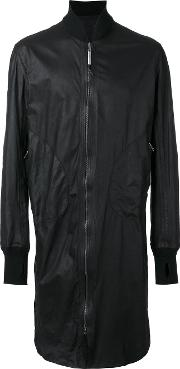 Isaac Sellam Experience , Long Bomber Jacket Men Lamb Skin M, Black