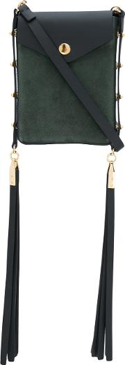 Isabel Marant , Fringed Shoulder Bag Women Suede One Size, Green