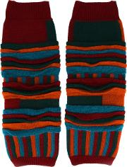 Issey Miyake Men , Striped Leg And Arm Warmers Men Acrylicnylonmohairwool One Size
