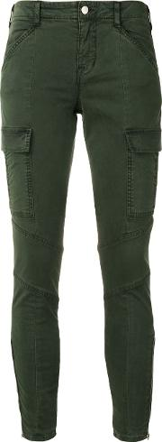 J Brand , Cargo Skinny Trousers Women Cottonspandexelastane 30, Green