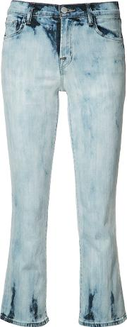 J Brand , Flared Cropped Jeans Women Cottonpolyurethaneacetate 25, Blue