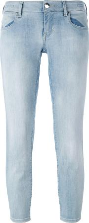 Jacob Cohen , Cropped Skinny Jeans Women Cottonpolyesterspandexelastanelyocell 27, Blue