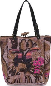 Jamin Puech , Embroidered Tote Women Raffia One Size
