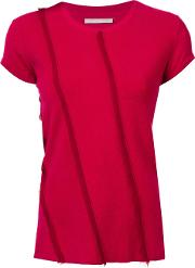 Jason Wu , Frayed Panelled Top Women Cashmere S, Red