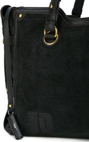 Jerome Dreyfuss , Emile Tote Women Cottoncalf Leathercalf Suede One Size, Black