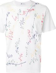 Jimi Roos , Embroidered Scribble T Shirt Men Cotton S, White