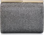 Jimmy Choo , Cate Clutch Women Brassmetallic Grey Fibre One Size