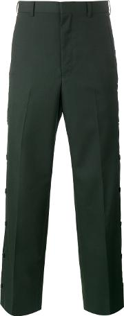 John Lawrence Sullivan , Buttoned Tailored Trousers Men Cuprowool 38, Green