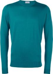 John Smedley , Crew Neck Jumper Men Merinovirgin Wool Xl, Green