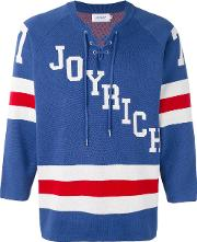 Joyrich , Hockey Knit Pullover Men Cotton S, Blue