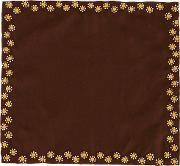 Jupe By Jackie , Floral Embroidered Pocket Square Men Silk One Size, Brown