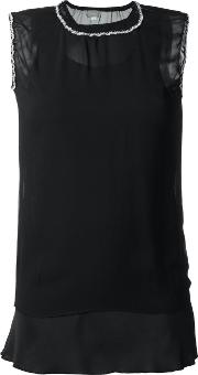 Jupe By Jackie , Sheer Tank Top Women Silk 1, Black
