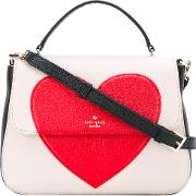 Kate Spade , Heart Print Tote Bag Women Leatherpolyester One Size, Nudeneutrals