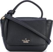 Kate Spade , Logo Plaque Tote Bag Women Leatherpolyester One Size, Black