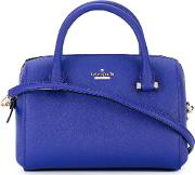 Kate Spade , Logo Plaque Tote Women Calf Leatherpolyurethanepolyester One Size, Blue