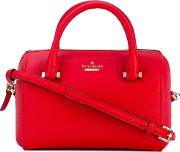 Kate Spade , Logo Plaque Tote Women Leatherpolyesterpolyurethane One Size, Red