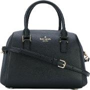 Kate Spade , Logo Stamp Tote Women Leatherpolyester One Size, Black