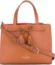 Kate Spade , Tassel Detail Tote Women Leather One Size, Brown