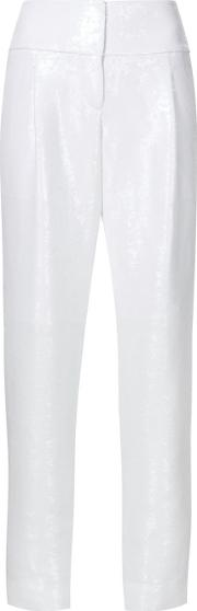 Kaufmanfranco , Tapered Trousers Women Silkpolyester 4, Women's, White