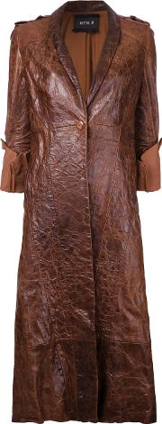 Kitx , Adrenaline Coat Women Leather 8, Brown