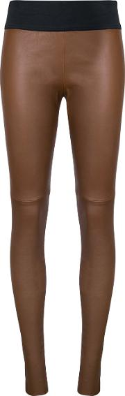 Kitx , Cat Trousers Women Leather 10, Brown