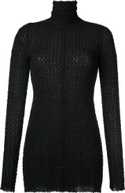 Kitx , Roll Neck Blouse Women Spandexelastaneviscose 6, Black
